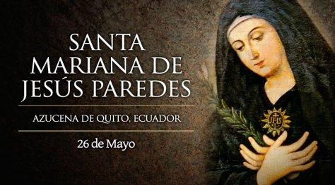 Santa Mariana de Jesus Paredes