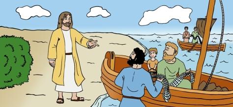 Jesús y apóstoles pescando 039 IV.025 V5