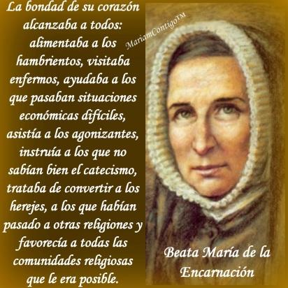 Resultado de imagen para Santoral María de la Encarnación