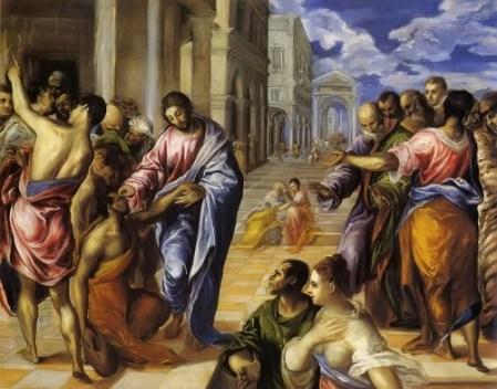 Resultado de imagen para Texto del Evangelio (Mc 10,46-52): En aquel tiempo, cuando Jesús salía de Jericó, acompañado de sus discípulos y de una gran muchedumbre, el hijo de Timeo (Bartimeo), un mendigo ciego, estaba sentado junto al camino. Al enterarse de que era Jesús de Nazaret, se puso a gritar: «¡Hijo de David, Jesús, ten compasión de mí!». Muchos le increpaban para que se callara.