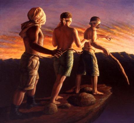 Resultado de imagen para En aquel tiempo, Jesús dijo a sus discípulos esta parábola: «¿Podrá un ciego guiar a otro ciego? ¿No caerán los dos en el hoyo? No está el discípulo por encima del maestro. Todo discípulo que esté bien formado, será como su maestro. ¿Cómo es que miras la brizna que hay en el ojo de tu hermano, y no reparas en la viga que hay en tu propio ojo? ¿Cómo puedes decir a tu hermano: 'Hermano, deja que saque la brizna que hay en tu ojo', no viendo tú mismo la viga que hay en el tuyo? Hipócrita, saca primero la viga de tu ojo, y entonces podrás ver para sacar la brizna que hay en el ojo de tu hermano».  »Porque no hay árbol bueno que dé fruto malo y, a la inversa, no hay árbol malo que dé fruto bueno. Cada árbol se conoce por su fruto. No se recogen higos de los espinos, ni de la zarza se vendimian uvas. El hombre bueno, del buen tesoro del corazón saca lo bueno, y el malo, del malo saca lo malo. Porque de lo que rebosa el corazón habla su boca».